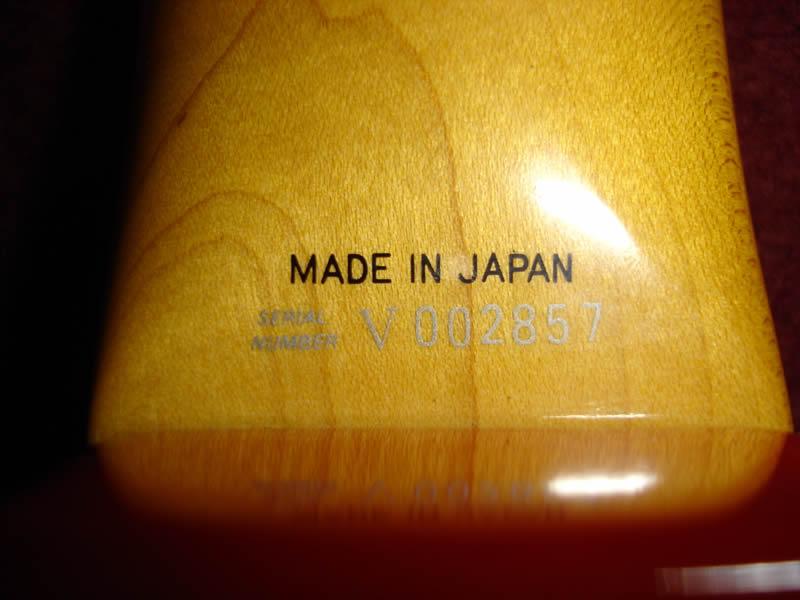 fender serial number japan