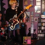 Justine De Sade of local punk band The Bombasts