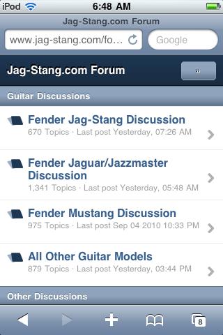 Mobile Jag-Stang.com Forum