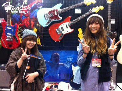 Cobain Mustang in Fender Booth