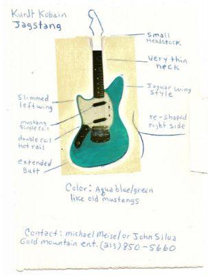 Kurt Cobain Fender Jag-Stang design
